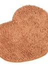 50 * 60cm Super morbida ciniglia filato cuore forma Footcloth altamente assorbente tappeto antiscivolo stuoia suolo tappetino zerbino per Entranceway coperta