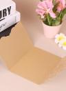 Carta di invito di cerimonia nuziale di 20pcs / set La carta della perla ha tagliato il corredo delle schede dell'invito di modello della farfalla vuota - dentellare