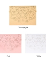 20pcs/set Wedding Invitation Cards Pearl Paper Laser Cut Hollow Butterfly Pattern Invitation Cards Kit--Pink