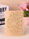 20 teile / satz Hochzeitseinladungskarten Perle Papier Laser Cut Hohle Schmetterling Muster Einladungskarten Kit-Rosa