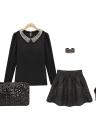 Saco de embreagem moda mulheres deslumbrantes lantejoulas Glitter espumante bolsa bolsa de festa preto de noite
