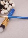 10Pcs bois maquillage pinceau Kit professionnel cosmétiques mis or bague bleue