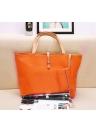 Nova moda mulheres bolsa de ombro bolsa Lady PU couro Tote laranja