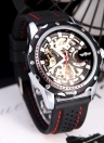 Winner Fashionable Men's Skeleton Semi Automatic Mechanical Watch