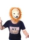 Halloween Gran Máscara del Rey León de Animal Terror Vestir Simulación Divertidos Complementos Disfraz Masquerade Cosplay