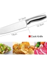 4pcs High Quality Stainless Steel Set Cook Fruit Knife Kitchen Scissors Multi-functional Tool