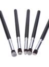 5 x Holz Make-up Pinsel Kit Professional Kosmetik Set synthetische Haar Aluminiumlegierung Ferrule