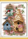 DIY Handmade Needlework Counted Cross Stitch Set Embroidery Kit 14CT Log Cabin Pattern Cross-Stitching 37 * 44cm Home Decoration