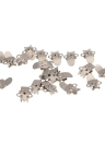 20pcs Blank Stainless Steel Shoe Clips Clip DIY Craft Buckles
