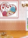 Fai da te a mano ricamo contato punto croce ricamo Set Kit 14ct lumaca coppie modello punto croce decorazione domestica 20 * 18cm
