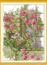DIY Handmade Needlework Counted Cross Stitch Set Embroidery Kit 14CT Birds' Family Pattern Cross-Stitching 37 * 47cm Home Decoration