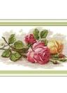 DIY Handarbeit Handarbeiten gezählt Kreuzstich Set Stickerei Kit 14CT schöne Rose Muster Cross-Stitching 45 * 29cm Wohnaccessoires