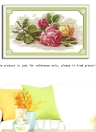 DIY Handmade Needlework Counted Cross Stitch Set Embroidery Kit 14CT Beautiful Rose Pattern Cross-Stitching 45 * 29cm Home Decoration