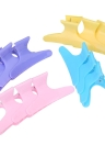 12pcs Fashion Plastic Colorful Hairdressing Tool Butterfly Hair Claw Salon Section Clip Clamps