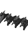 12Pcs Fashion Plastic Black Hairdressing Tool Butterfly Hair Claw Salon Section Clip Clamps