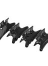 12Pcs Fashion coiffure noir en plastique outil papillon cheveux griffe Salon Section Clip pinces