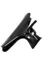 12pcs moda peluquería negro plástico herramienta mariposa pelo uña salón sección pinza abrazaderas