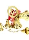 5pcs Glitter sinos ornamentos de Natal Bell Tree Baubles decoração clara