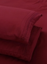 Sábalos bordan Cording 4Pcs cama Set equipada hoja cama funda almohada casos ropa de cama Textiles para el hogar
