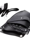 Кожаный парикмахерская ножница Парикмахерская чехол Чехол Чехол Чехол Заклепки с сумкой с поясом плеча