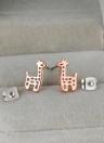 1pair color de rosa de 18 K oro jirafa plateado crotal Stud pendientes joyas regalo para mujeres Dama