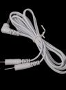 2 pernos de llevan los cables de conexión de los Cables para conector de 3,5 mm de electrodo almohadilla Digital TENS terapia masajeador