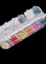 12 couleurs véritables ongles séchées fleurs Nail Art décoration conseils de bricolage avec l'affaire petites fleurs