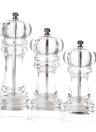 Acrylic Manual Pepper Grinder Salt Spices Mill Shaker Transparent Kitchen Grinding Tool 185/165/140mm