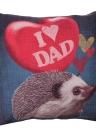 Cartoon animali Koala Hedgehog cotone e lino federa indietro cuscino copertina Throw Pillow caso per letto divano auto Home Decor decorativo 45 * 45cm
