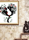 DIY Handmade Needlework Counted Cross Stitch Set Embroidery Kit 14CT Love Tree Pattern Cross-Stitching 42 * 45cm Home Decoration
