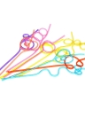 10pcs/lot Colorful Straw Crazy Curly Loop Coloured Drinking Straws for Birthday Party