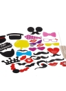 Anself 33Pcs Conjunto de accesorios de photocalls atrezzo de fotos decorativo de boda de máscara para navidad fiesta cumpleaños de barba sombrero gafas labios tabaco pipa de decoración