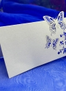 10Pcs Romantic White Carved Butterfly Table Mark Name Place Card for Wedding Birthday Banquet Decoration