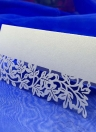 10Pcs Romantic White Carved Flower Vine Table Mark Name Place Card for Wedding Birthday Banquet Decoration