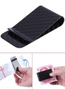 Real Carbon Fiber Money Clip Business Card Credit Card Cash Wallet Polished and Matte for Options