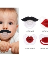 Lovely Cute Infant Baby Kid Pacifier  Silicone Child Soother Nipple  Red Lip Style