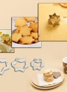 17pcs Stainless Steel Cake Fondant Cookie Biscuit Candy Mould Mold Cutters Heart Star DIY Decorating Tools Baking Kit