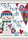 22 * 21.7cm DIY Handmade Counted Cross Stitch Set Embroidery Needlework Kits Christmas Snowman Pattern Cross Stitching Home Decoration 14CT