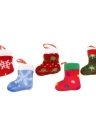 5PCS Lovely Christmas Tree Decoration Xmas Hanging Stockings Ornaments to put Presents & Candies Christmas Supply