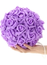 Wedding Apartments Decoration Supplies Hand Made Hangings Wedding Room Decorations for Bride Decorate Adornment with Artificial Roses Ball-flower Pink/Purple