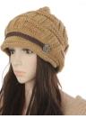 Nuovo inverno donne Beanie grosso maglia cappello larghi sci caldo cappello Cap Headwear Khaki