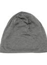 Nueva moda hombres mujeres Beanie Color sólido hip-hop gacho Unisex tejida tapa sombrero gris oscuro