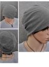 Nova moda homens mulheres gorro cor sólida hip-hop desleixo Unisex malha Cap chapéu cinza escuro