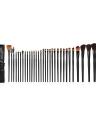 32 PCS conjunto de cepillos de maquillaje + Bolso Negror