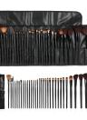 Maquiagem 32pcs Professional jogo de escova cosmético Essencial Make Up Brushes Kit Black Powder Escova Sombra Delineador Sobrancelha Escova + bolsa de couro