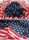 American Flag Stars Stripes Long Shawl