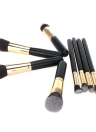 Professional Cosmetic Brush Face Makeup Blusher Powder Foundation Tool Angled Flat Top Wood+Aluminum