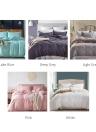 3pcs/set Pure Color Bedding Set