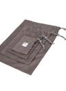 4pcs / lot Set Travel Storage Bag Impermeável Nylon Drawstring Pouch Homens e Mulheres Folding Clothes Organizadores classificados Embalagem Sapatos Bolsas de bagagem (Amarelo)