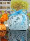 30pcs Laser à la main coupée boîtes à bonbons avec rubans Partie Favor anniversaire cadeau bonbonnières de mariage baiser amoureux modèle mariage accessoire